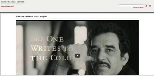 Página web archivo García Márquez