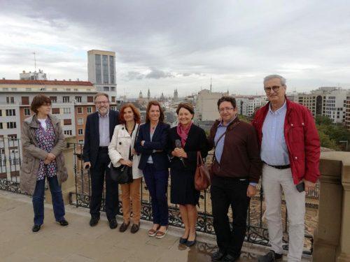 Foto: Grupo de trabajo, tras reunión de septiembre 2017, visita Paraninfo.