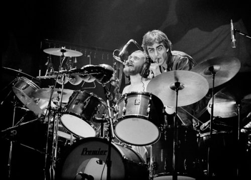 Phil Collins & Peter Gabriel. Photo © Bill Green.
