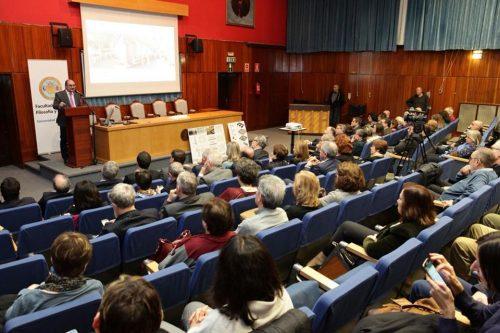 El presidente del Gobierno de Aragón, Javier Lambán, en la presentación del proyecto.
