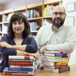 Los libreros argoneses Eva Cosculluela y Juancho Pérez; coordinadores del XXIII Congreso de Libreros. Foto: Aránzazu Navarro