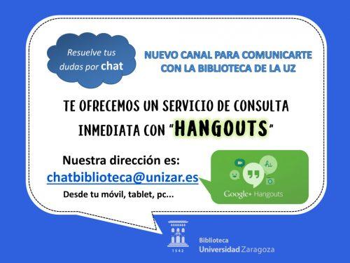 Resuelve tus dudas por Chat Nuevo canal para comunicarte con las bibliotecas de la Universidad de Zaragoza (UZ)
