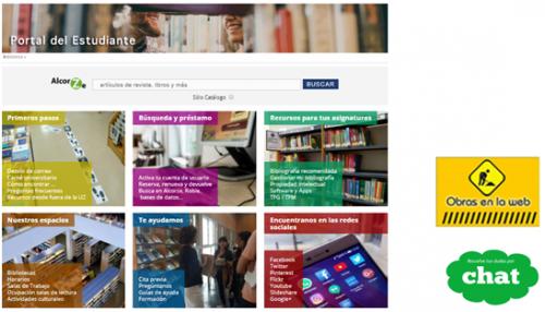 Avance del Portal del estudiantes en la web de la Biblioteca de la Universidad de Zaragoza