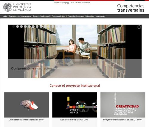 Portal de competencias transversales en la UPV