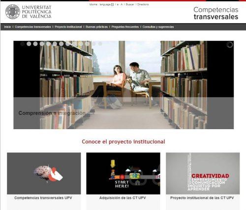 Portal de competencias transversales en la UPV