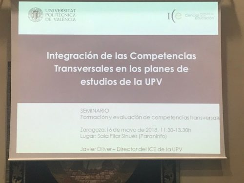 Seminario sobre Formación y evaluación de compentencias transversales