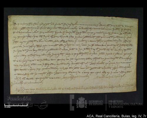 Cancillería. Bula - El pasado del Reino de Aragón a un clic