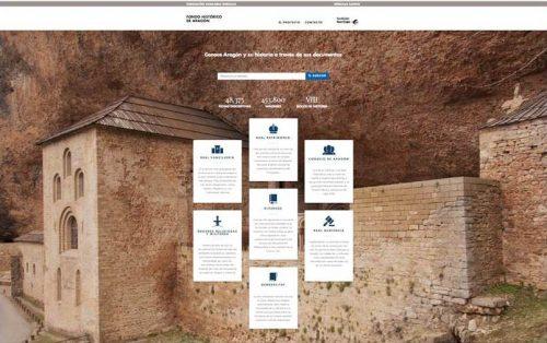 Portal web - El pasado del Reino de Aragón a un clic