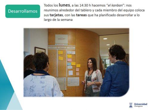 la experiencia de uso de la metodología kanban para la gestión de tareas en la organización del trabajo de la Biblioteca de la Escuela Politécnica Superior (EPS): desarrollar