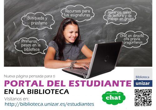 Nuevo PORTAL DEL ESTUDIANTE en la biblioteca de la Universidad de Zaragoza
