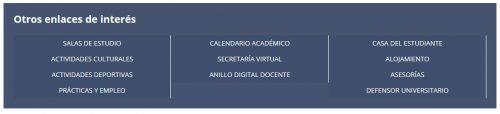 Portal del Estudiante de la Biblioteca de la Universidad de Zaragoza: Otros enlaces de interés