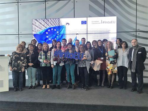 """Visita de las redes de información europea """"Europe Direct""""  españolas a la Comisión Europea en Bruselas. Centro de Visitas de la Comisión"""