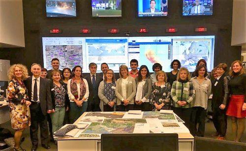 """Visita de las redes de información europea """"Europe Direct""""  españolas a la Comisión Europea en Bruselas. visita al Centro de Protección Civil y Operaciones de Ayuda Humanitarias Europeas: Centro Europeo de Coordinación de la Respuesta a Emergencias (CECRE)"""