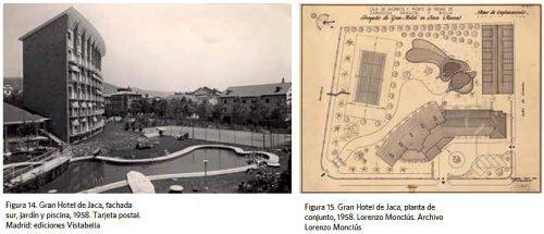 Gran Hotel de Jaca, del arquitecto Lorenzo Monclús Ramírez