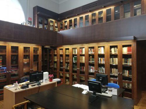 sala de investigadores de la Biblioteca en el Paraninfo