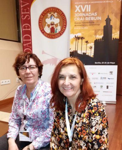 Ana Pons y Cristina Seguí en las XVII Jornadas CRAI-REBIUN. Sevilla 2019