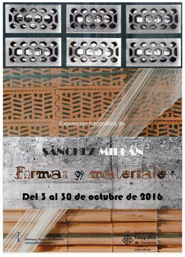Sánchez Millán: Formas y materiales