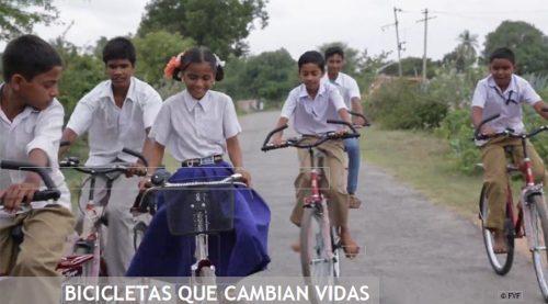 Bicis que cambian vidas. Fundación Vicente Ferrer.