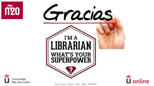 César Cáceres y Lourdes Lledó intervienen para dar una visión de la educación digital y el impacto en las bibliotecas universitarias desde el punto de vista del profesorado