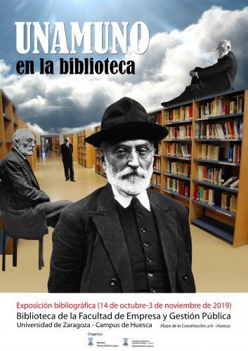 Unamuno en la biblioteca. Exposición bibliográfica en la FEGP (Huesca)