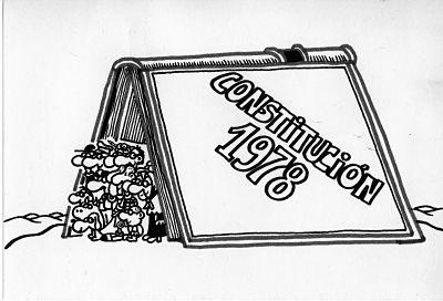 La Constitución por Forges, exposición en la Biblioteca Nacional.