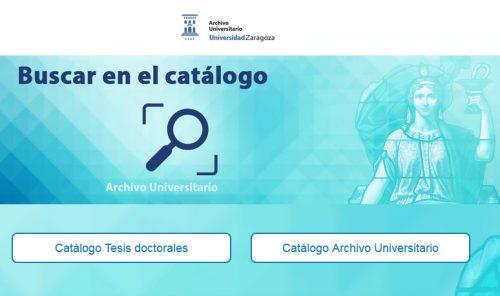 Catálogo del Archivo Universitario de Zaragoza